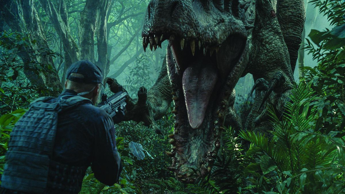 The dinosaurs in Jurassic World mix a lot of sounds