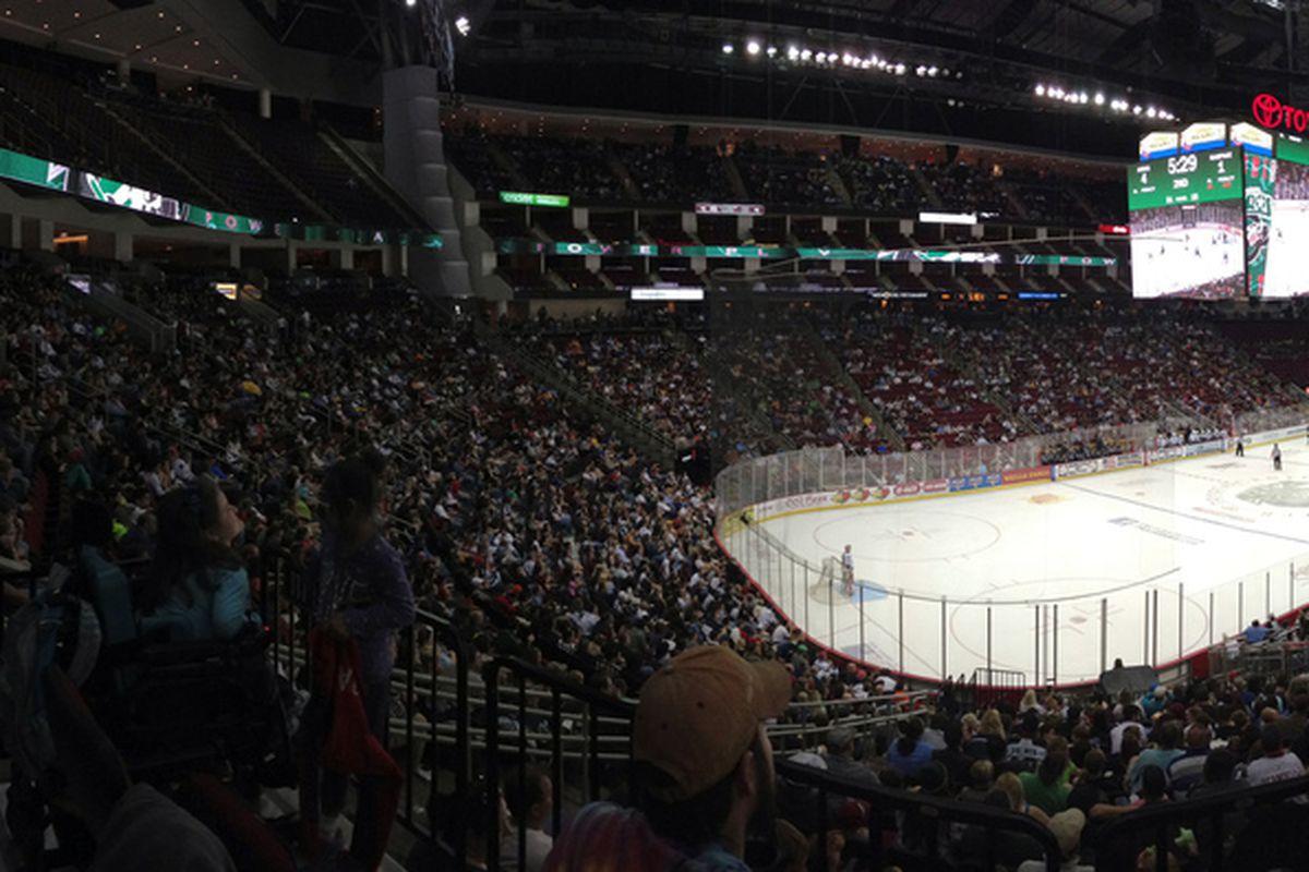 Over 13,000 fans for the last Houston home game of the regular season