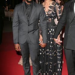 Usher and Grace Miguel at the 'Hands of Stone' premiere.