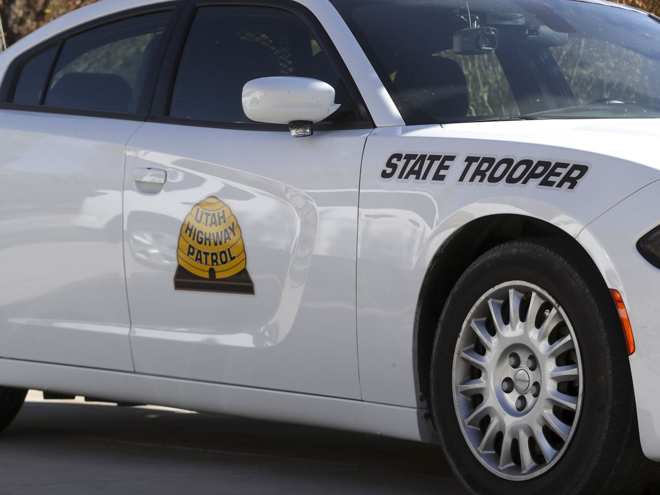 A Utah Highway Patrol vehicle in Salt Lake City is pictured on Thursday, Oct. 22, 2020.