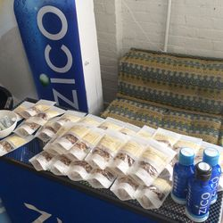 Guests were rewarded with ice cold ZICO coconut water and delicious Gigi's Remix granola.
