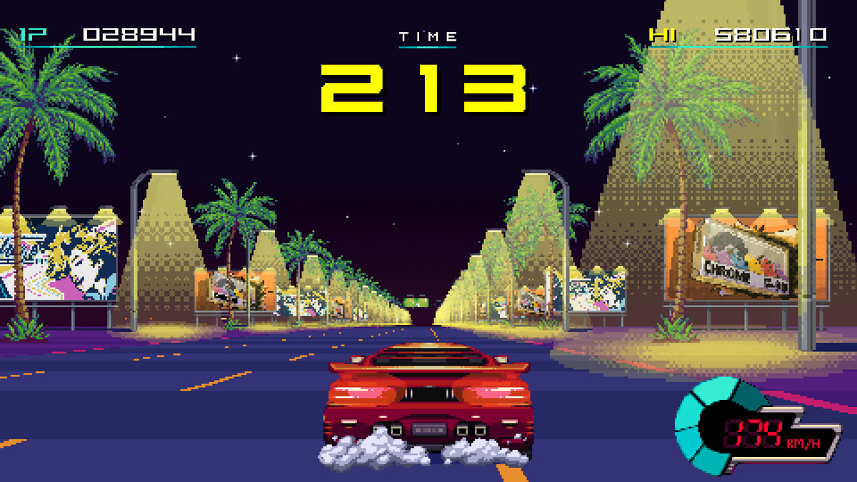 A retro looking racing game