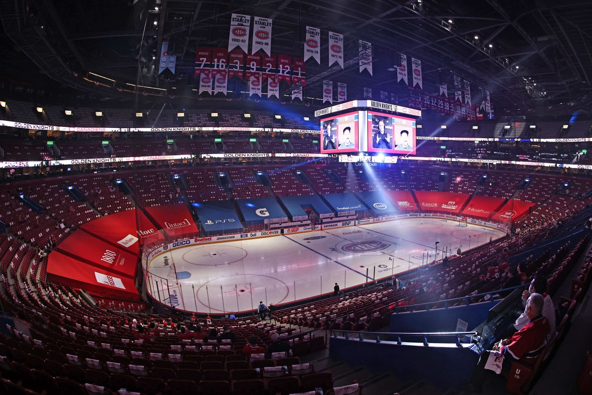 General view of the Bell Centre before the game three of Montreal Canadiens against Vegas Golden Knights of the 2021 Stanley Cup Semifinals at Bell Centre.