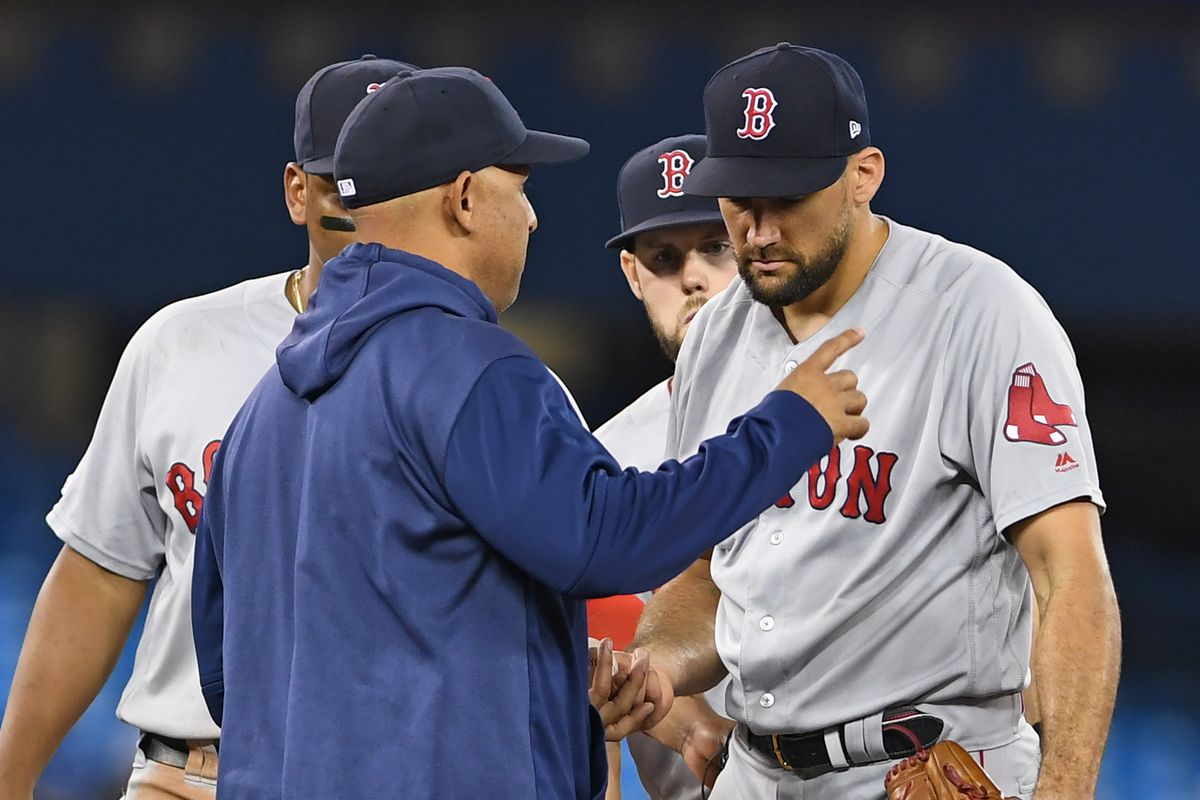 Nathan Eovaldi and the Red Sox drop one to the Blue Jays