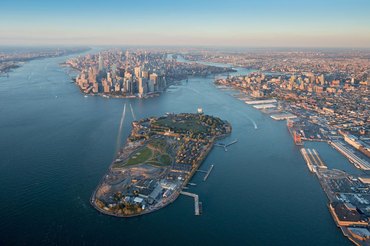 An Aerial Gondola Connecting Manhattan To Governors Island