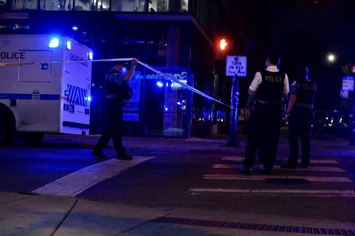 Four people, including a teenage boy, were shot August 23, 2021 in Uptown.