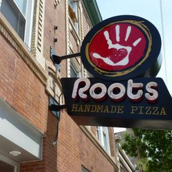 Exterior view of Roots Handmade Pizza.