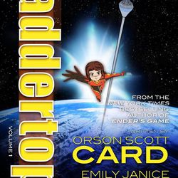 """""""Laddertop"""" is a scifi graphic novel by Orson Scott Card and his daughters Emily and Zina."""