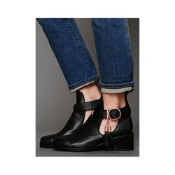 """<b>Shakuhachi </b> Nix Cutout Ankle Boot in Black, $269.95 (on sale from $395) at <a href=""""http://www.freepeople.com/nix-cutout-ankle-boot/_/searchString/nix%20cutout/QUERYID/51899cab575c1f40c100016e/SEARCHPOSITION/0/CMCATEGORYID/683d4023-53f5-4900-b5ce-e"""