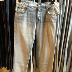 Bleached indigo jeans, $23.20