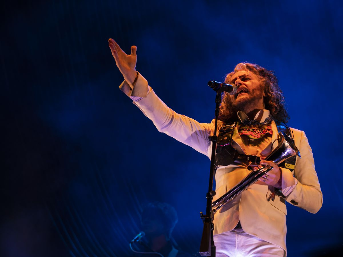 Wayne Coyne, of the Flaming Lips, performs on day one of Riot Fest in Douglas Park, Friday night, Sept. 13, 2019.