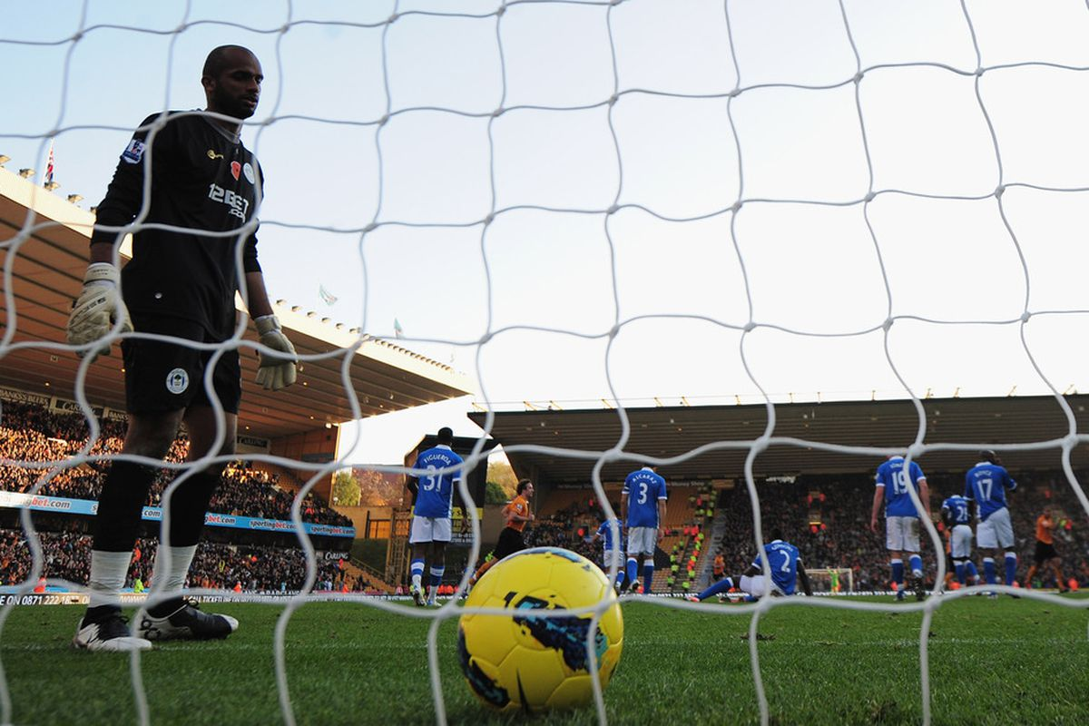 Ali is powerless to keep Wolves from scoring three as the teams performances isn't good enough.