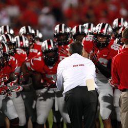 Meyer pumps up the team in their Rivalry uniforms.