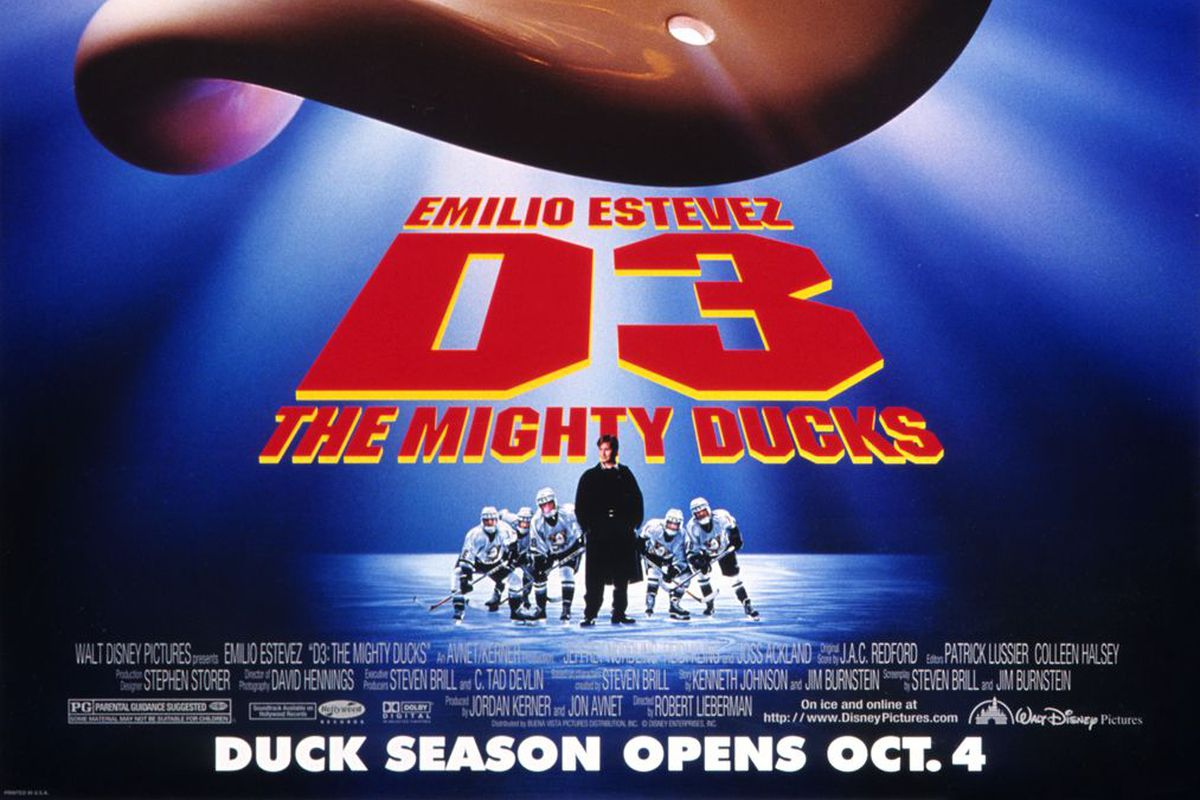 The poster for D3: The Mighty Ducks