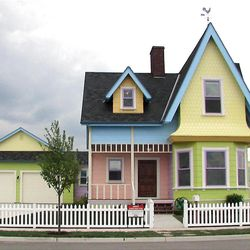 """Some neighbors are hoping the house based on the  movie """"Up"""" will soon have a more muted paint job."""