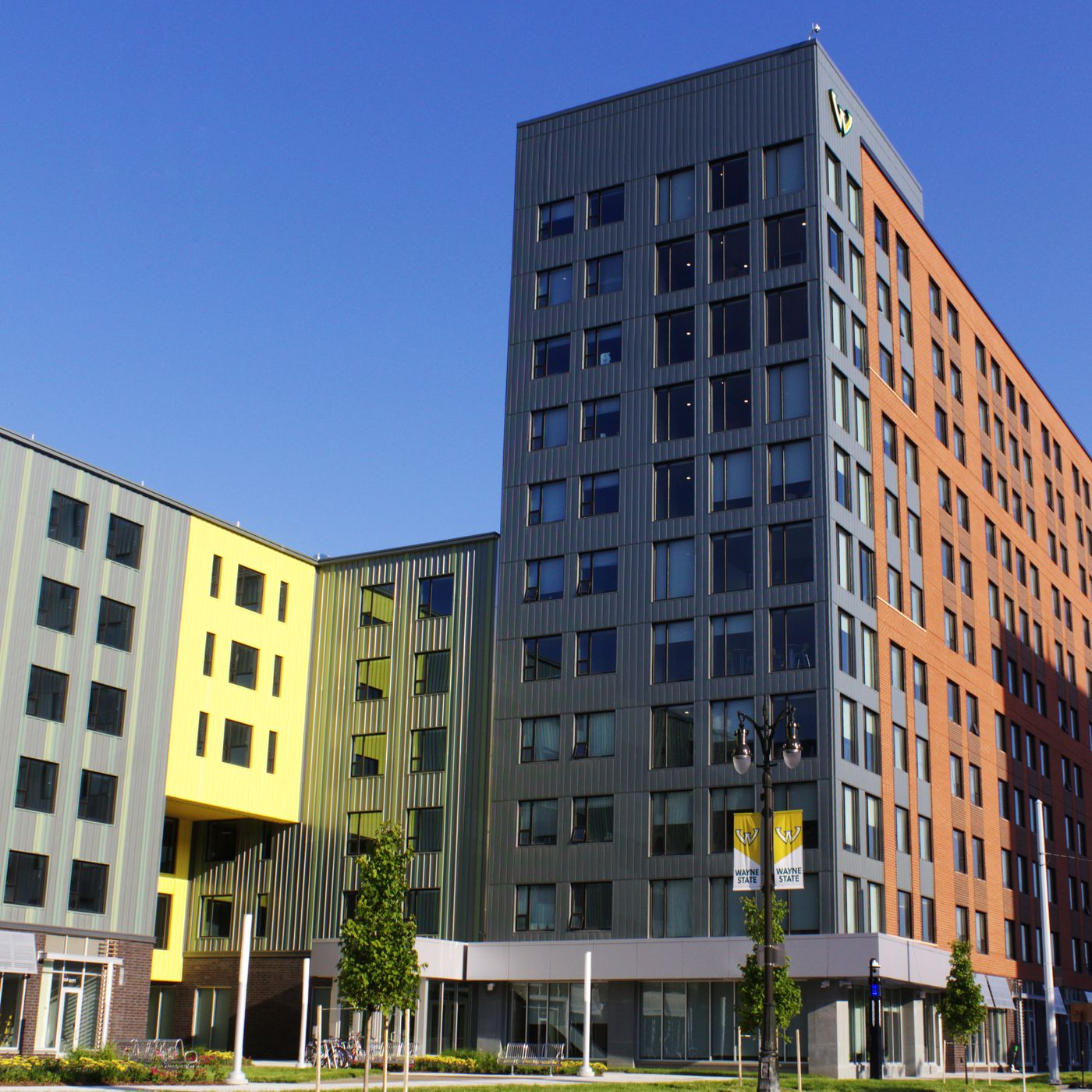 Wayne State University Completes 151m Student Housing Complex On Anthony Wayne Drive Curbed Detroit