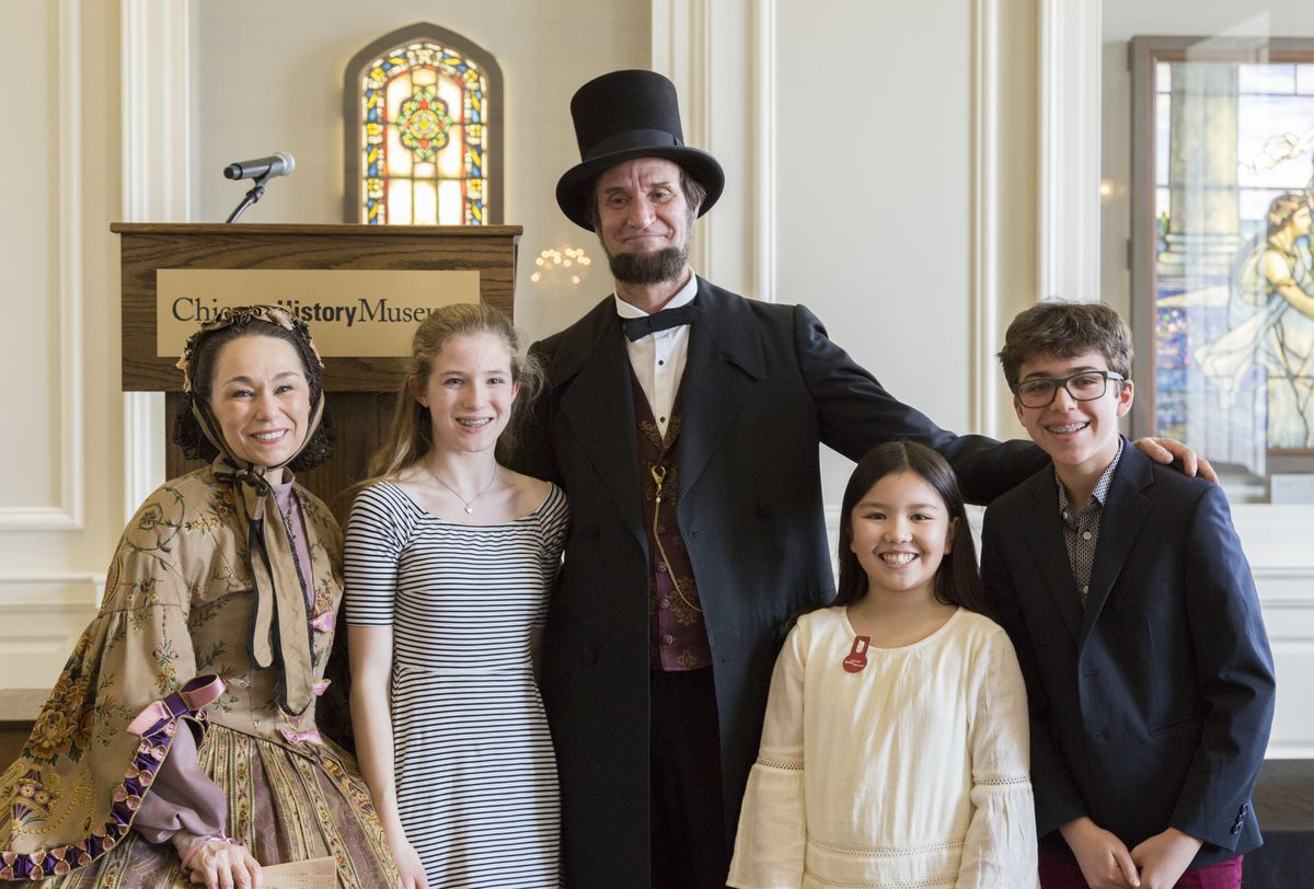 Abraham and Mary Todd Lincoln (portrayed by Michael Krebs and Debra Miller) are available for photo ops during your President's Day visit to the Chicago History Museum. | Courtesy Chicago History Museum