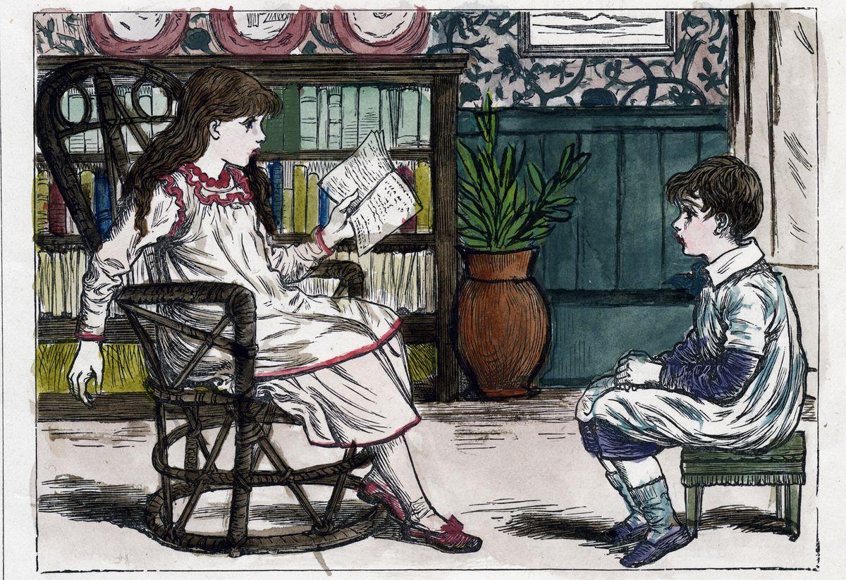 A Kate Greenaway illustration circa 1880