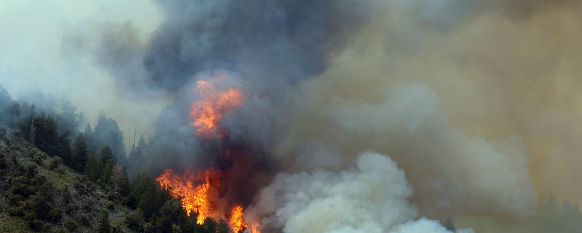 A wildfire burns on Victory Mountain in Morgan Canyon in Tooele County on Tuesday, June 22, 2021. The fire started after a plane crash.
