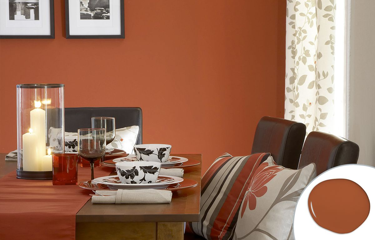 Spicy Orange Dining Room Paint Color