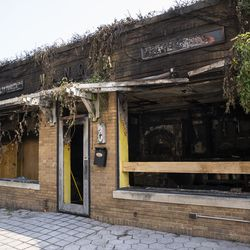 A business in downtown Kenosha was burned during unrest overnight after police shot a Black man, Jacob Blake, in the the 2800 block of 40th Street, Monday morning, Aug. 24, 2020.