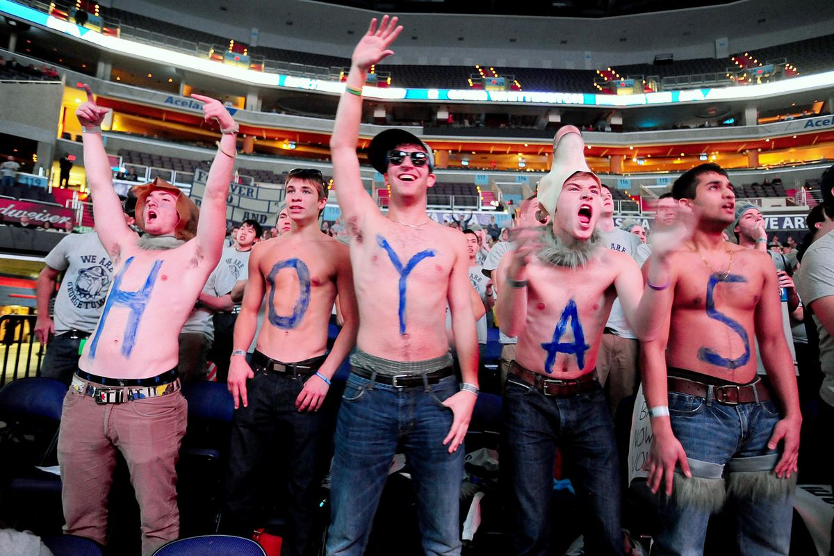 These Georgetown fans are happy to see their team in the College Cup.