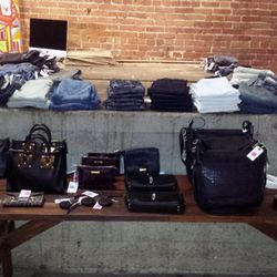 Leather bags and accessories from Sophie Hulme, MM6, and Rag & Bone are going for 30% off; while J Brand, Current/Elliott, BLK DNM, and Opening Ceremony are just a few brands repped at the denim bar (<b>$133</b> and up).