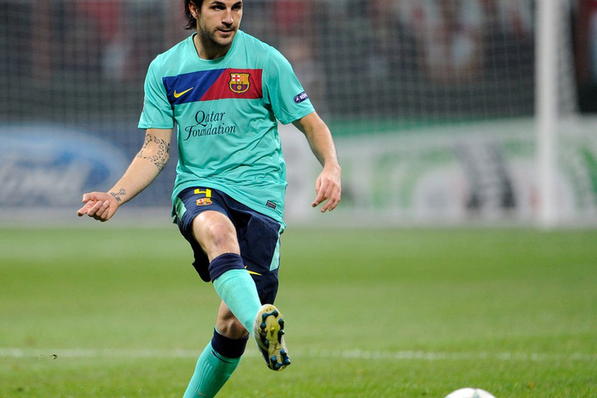 Cesc is getting read for a trip to <strike>Real Madrid B</strike> Getafe