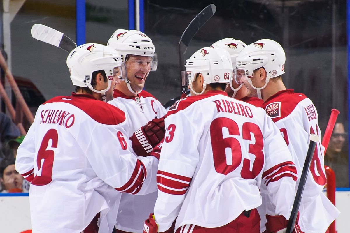 The Coyotes celebrate yet another goal
