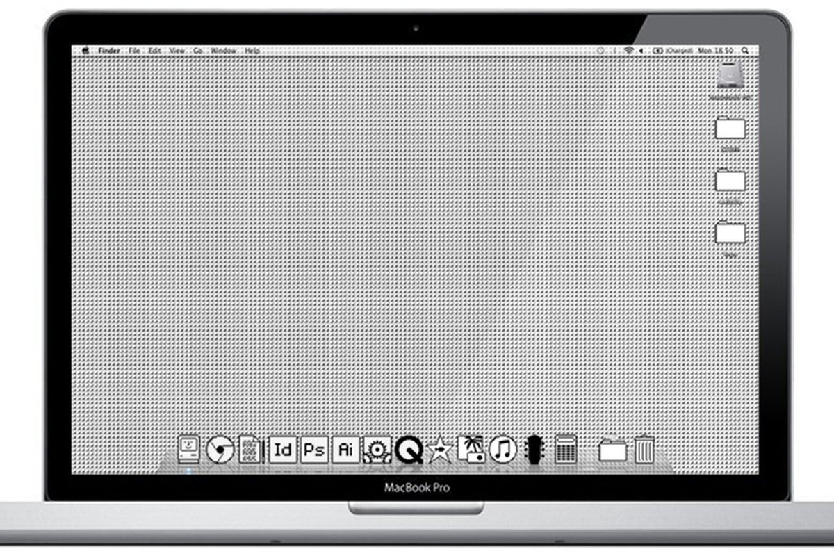 Mac OS (Old School) theme brings back the black-and-white