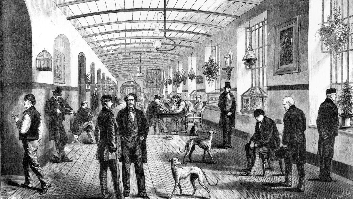 Royal Hospital of Bethlehem, Moorfields, London, 1860.