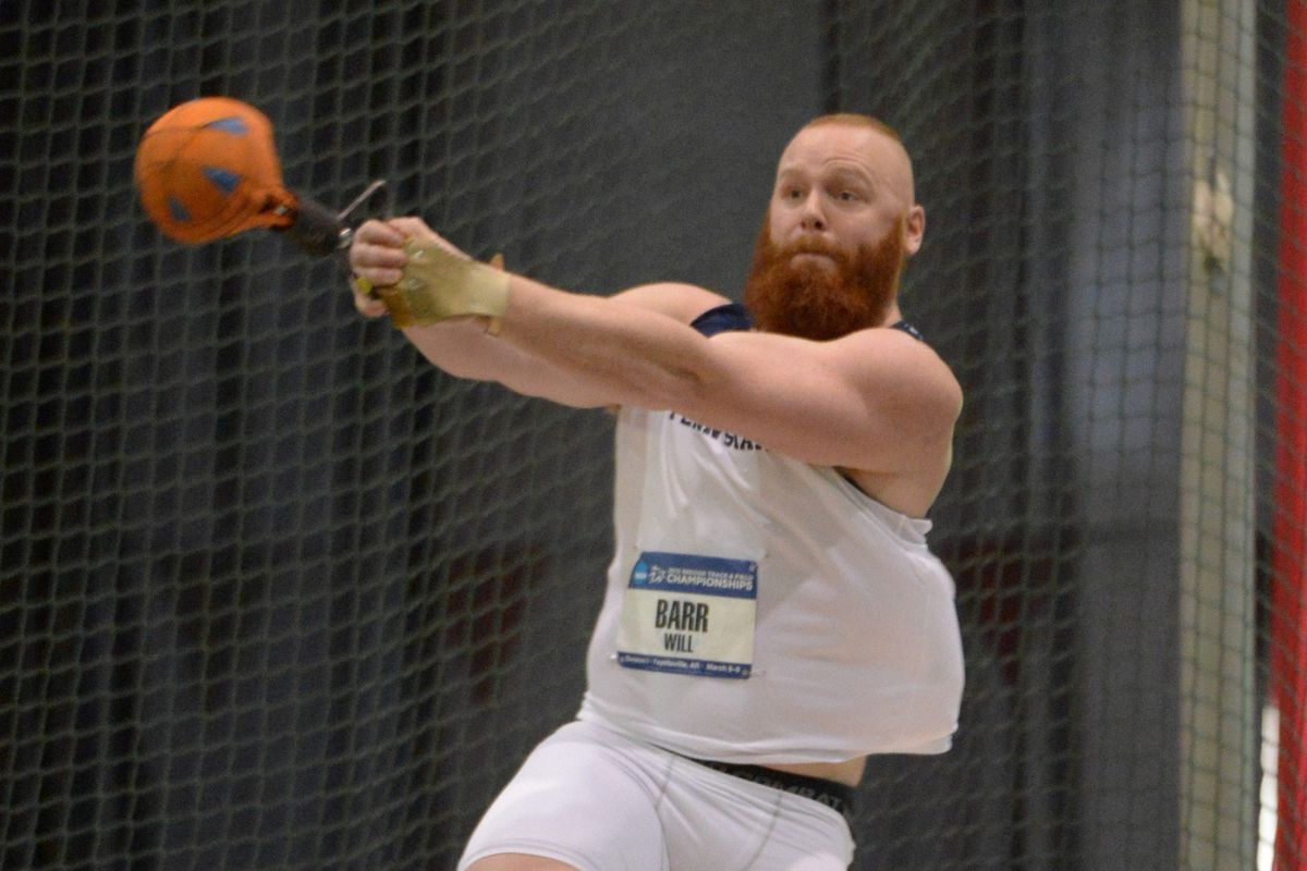 Will Barr and his splendiferous beard competed at the NCAA Indoor Track and Field Championships