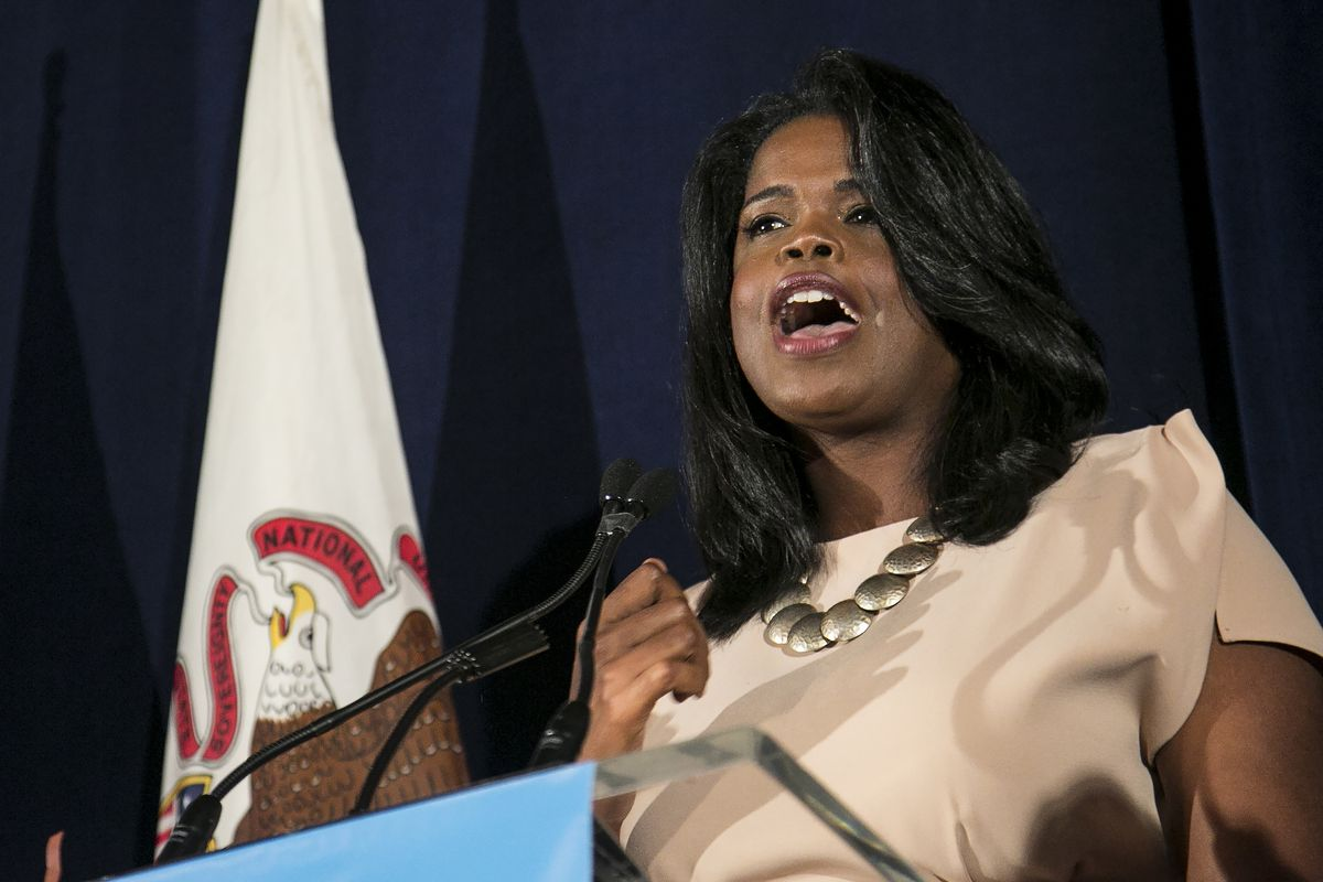 Kim Foxx on election night in 2016, when she won her first term as Cook County state's attorney.