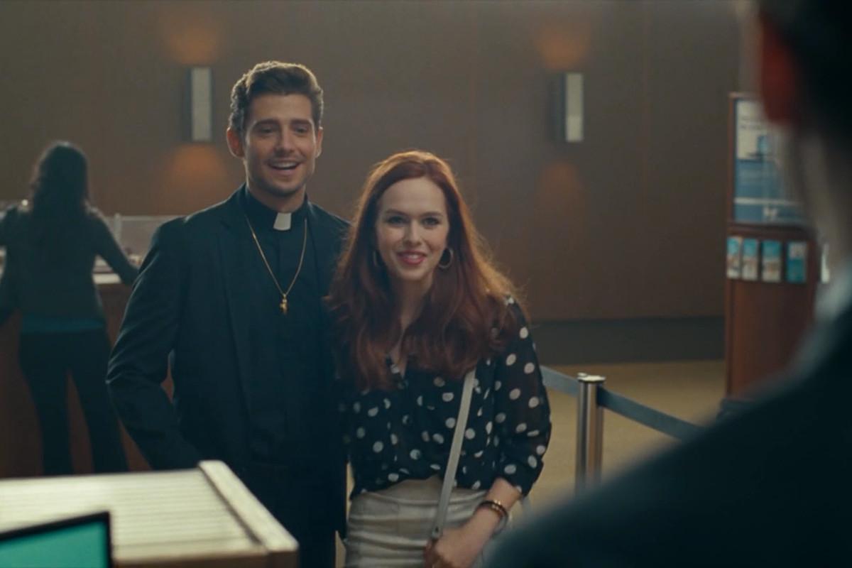 Julian Morris and Elizabeth McLaughlin in Hand of God.