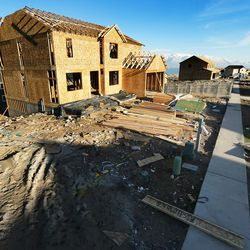 Home construction in Saratoga Springs is pictured on Monday, Dec. 12, 2016.
