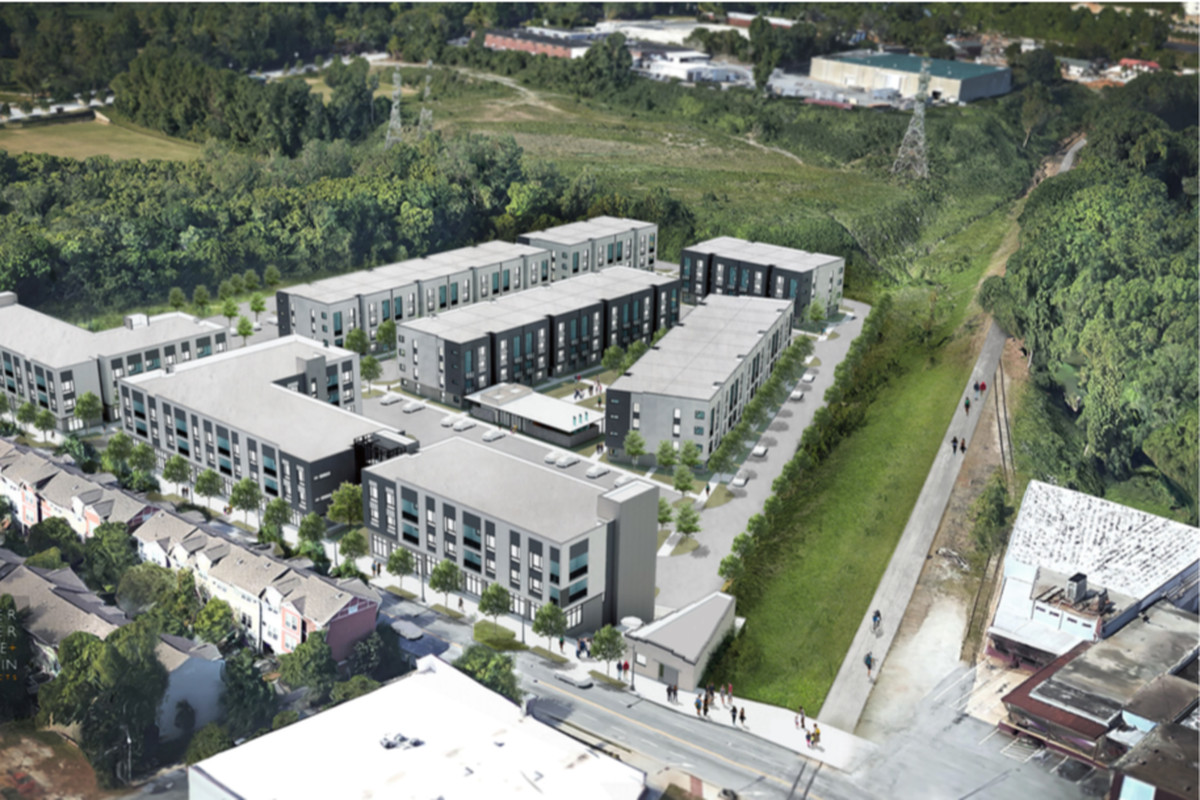 The project's Beltline and Boulevard frontage.