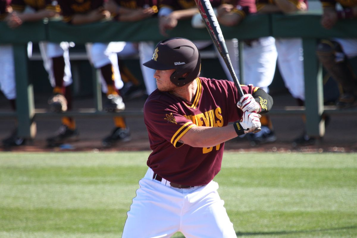 Junior outfielder Jake Peevyhouse and ASU fell for the second time this weekend.