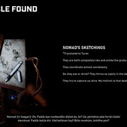 Collectible 1: Nomad's Sketchings