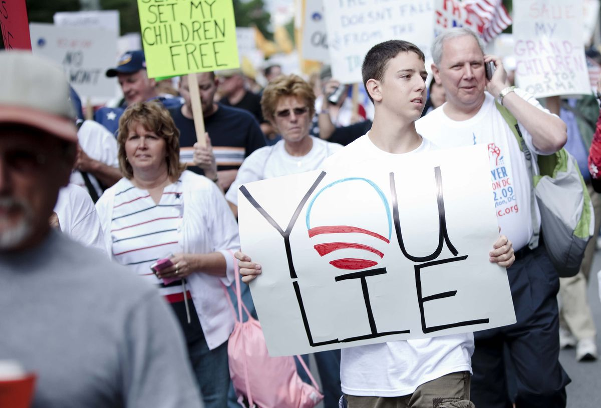 The Tea Party Express Nation Wide Bus Tour Protest Ends In DC