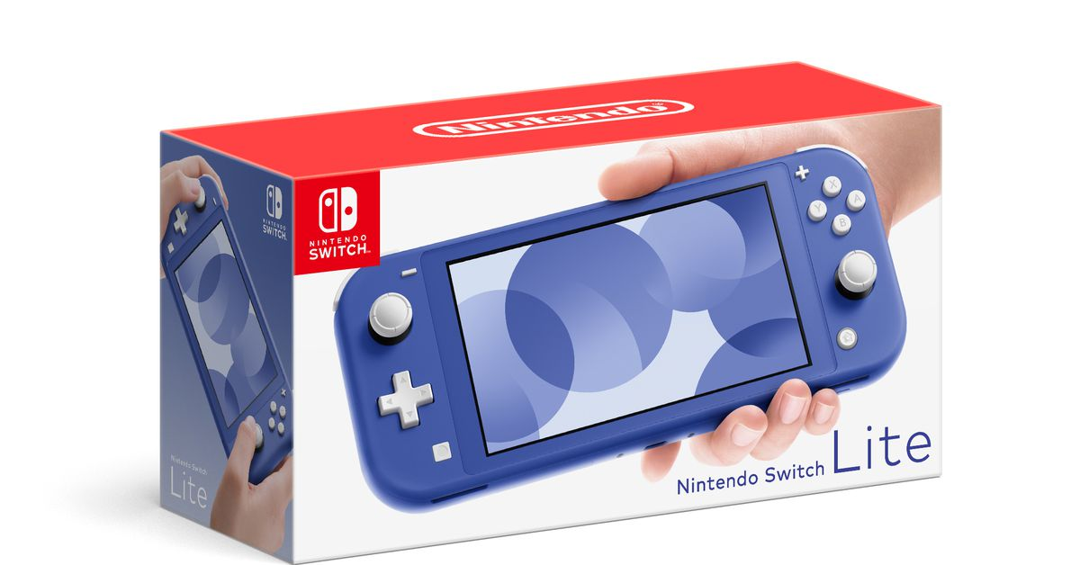 Nintendois releasing a bright blue Switch Lite in May