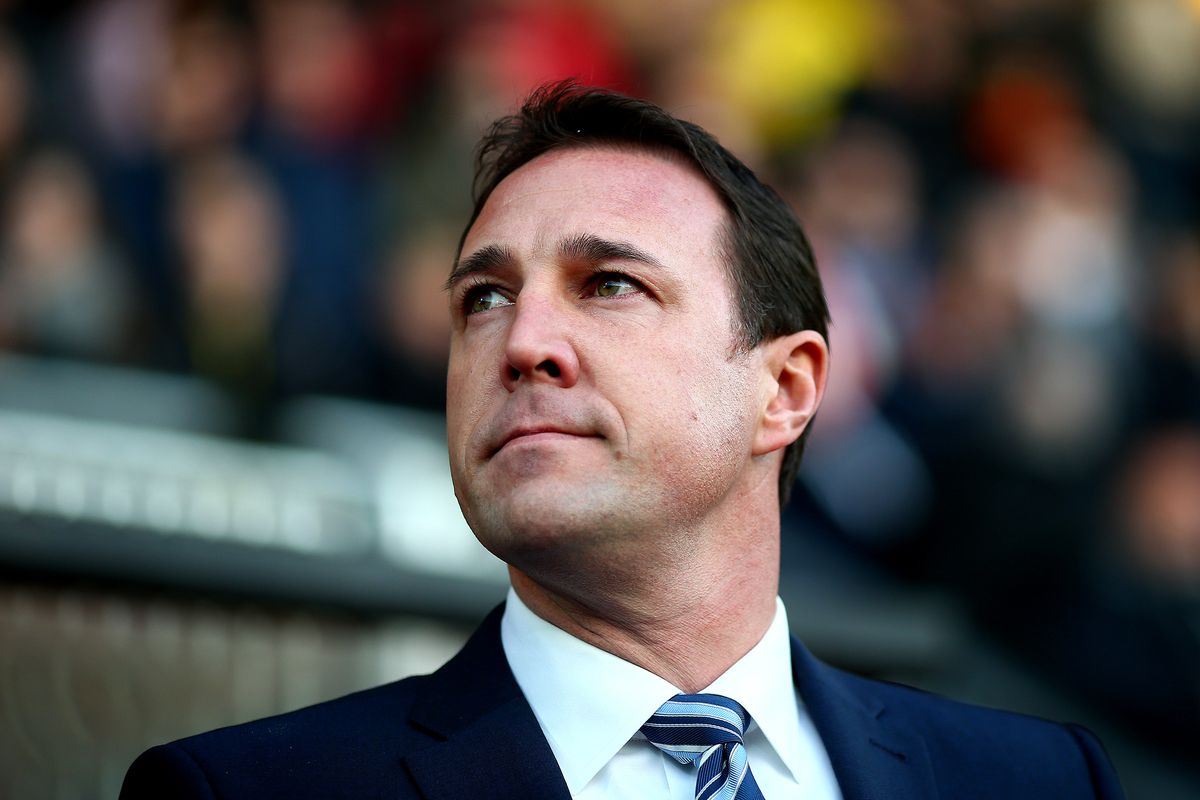 Malky Mackay looking all imperious and Roman Emperor like