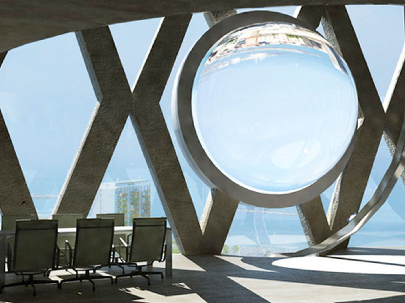 Eco-friendly art: Andre Broessel's glass orb helps maximize solar