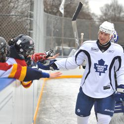 The Maple Leafs used to have ads on practice jerseys, so it's not a new idea.