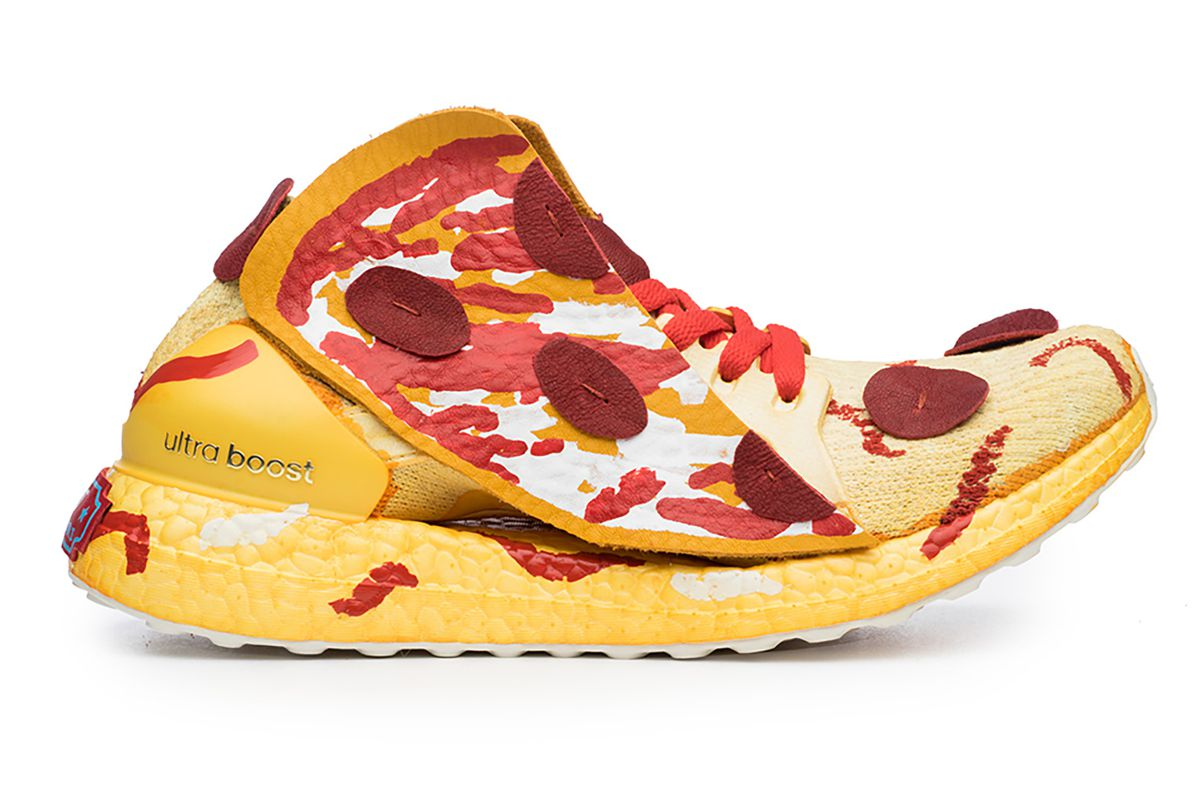 adidas pizza shoes are the must have accessory for pepperoni loving