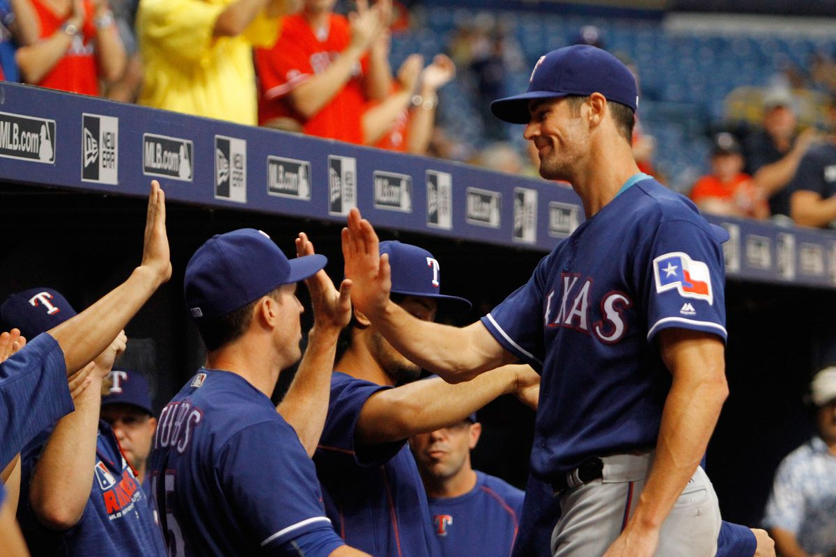 Texas Rangers and the Tampa Bay Rays