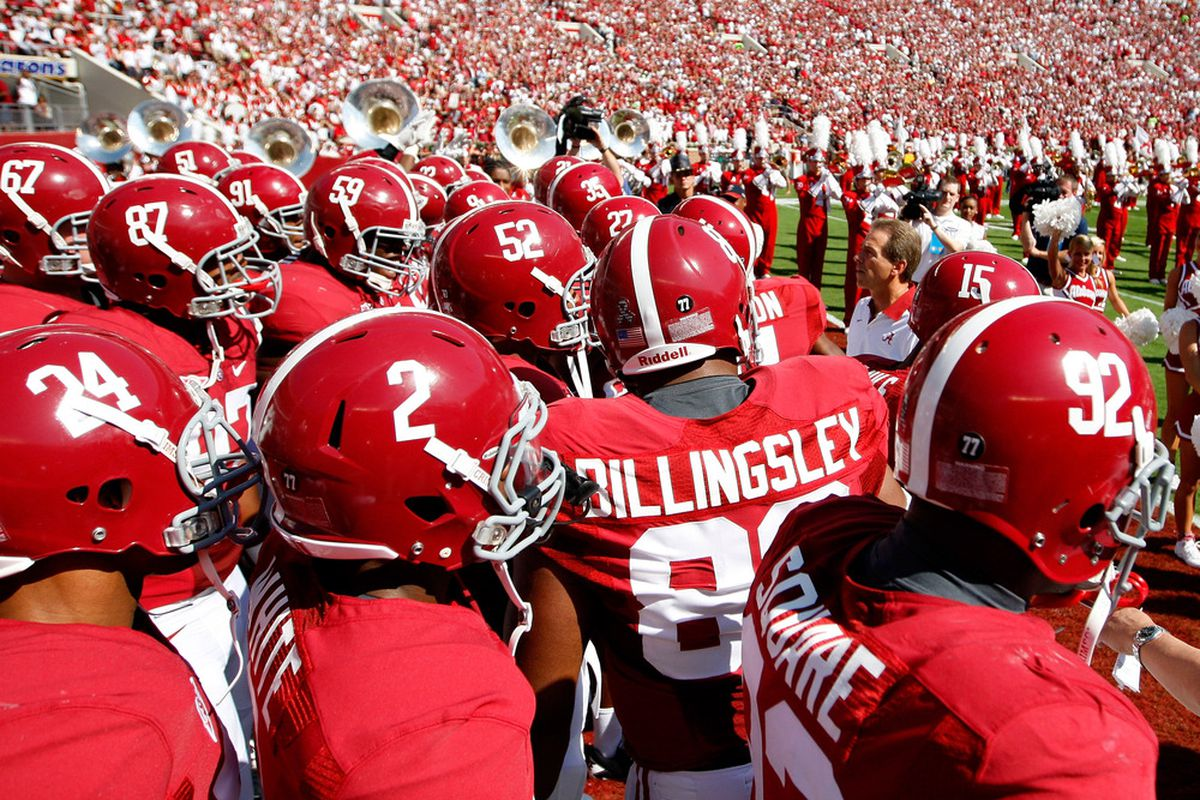 This week's ballot is crimson at the top, as Alabama's suffocating performance against the Razorbacks makes its resume the best so far.