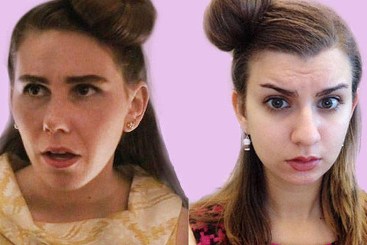 "Image via <a href=""http://www.elle.com/pop-culture/celebrities/shoshanna-girls-zosia-mamet-hair-diary#slide-1"">Elle</a>."