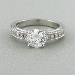Bulgari Platinum 1 Carat Ring (probably used): $14,500