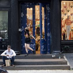 """<b>↑</b> You can't shop in Soho without paying your respects to the unrivaled kingdom of cool, <b><a href=""""http://www.openingceremony.us/"""">Opening Ceremony</a></b> (35 Howard Street). With its knack for discovering some of the world's most talented design"""