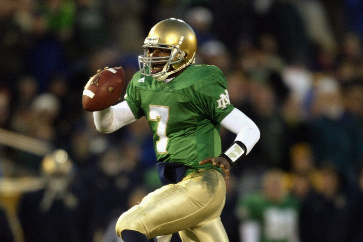 new style 83c30 59fc9 Will Notre Dame Wear Green Jerseys Against The Michigan ...